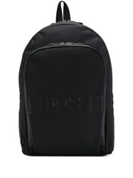 Hugo Boss Logo Branded Backpack Black