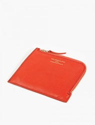 Melinda Gloss Orange Leather Zip Around Wallet