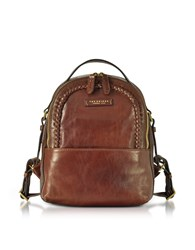 The Bridge Handbags Murakami Leather Backpack W Woven Trim