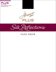 Hanes Silk Reflections Non Control Top Satin Finish Barely Black