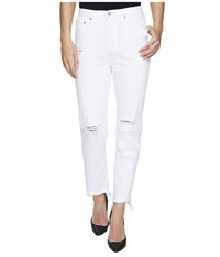 Ag Adriano Goldschmied Phoebe High Waisted Tapered Leg In 5 Years White Frayed 5 Years White Frayed Women's Jeans