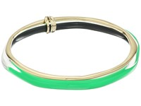 Alexis Bittar Liquid Metal Paired Bangle Opaque Lime Clear Bracelet Green