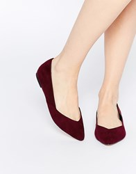 Asos Lucy Wide Fit Ballet Flats Red