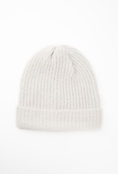 Forever 21 Fold Over Fuzzy Beanie Grey