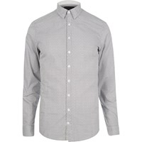 Vito River Island Mens Light Grey Smart Shirt