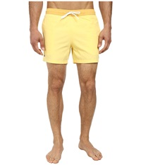 Lacoste Poplin Color Block Waist Swim Short 5 Pollen Gold Men's Swimwear Yellow