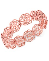 Inc International Concepts Rose Gold Tone Rosette Stretch Bracelet Created For Macy's