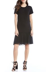 Karen Kane Ruffle Hem Dress Black