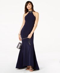 Jump Juniors' Embellished Low Back Gown Navy