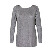 Soaked In Luxury Stretch Jersey Top Grey