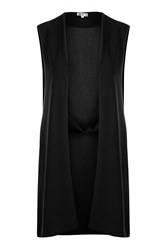 Wal G Panelled Detail Waistcoat By Black