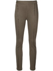 Rosetta Getty Skinny Fit Cropped Trousers Brown
