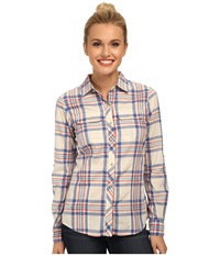 The North Face Baylyn Plaid Shirt Vintage Blue Vintage White Women's Long Sleeve Button Up Pink