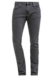 Nudie Jeans Long John Slim Fit Jeans Grey On Grey Black Denim