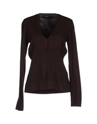 Caractere Knitwear Cardigans Women Dark Brown