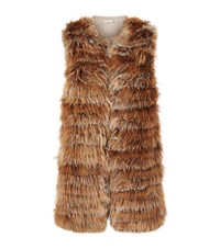 Alice Olivia Joss Knitted Fur Gilet Female Brown