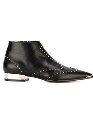 Barbara Bui Studded Pointed Toe Boots Black