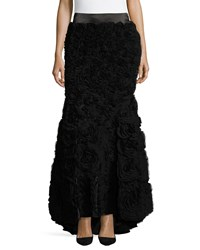 Haute Hippie Long Skirt W Train And Chi Black