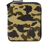 A Bathing Ape 1St Camo Leather Wallet M Multi