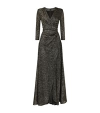 Talbot Runhof Metallic Long Sleeve Gown Female