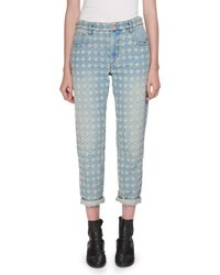 Etoile Isabel Marant Corliff Girlfriend Straight Leg Jeans Blue