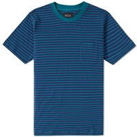Howlin' Paradisco Stripe Pocket Tee Blue