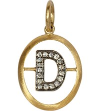 Annoushka 18Ct Yellow Gold And Diamond D Pendant
