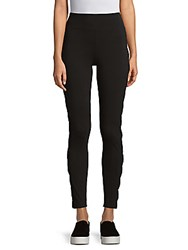 Andrew Marc New York Cutout Leggings Charcoal