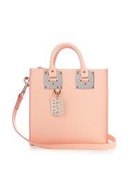Sophie Hulme Albion Square Leather Tote Light Pink