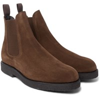 Officine Generale Suede Chelsea Boots Brown