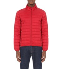 Armani Jeans Quilted Shell Jacket 4H Rosso Red
