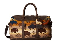 Pendleton Getaway Bag Land Of The Buffalo Weekender Overnight Luggage Brown