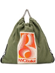 Acne Studios Gathered Fabric Tote Green