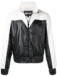 Just Cavalli Contrast Bomber Jacket Black