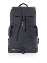 Ted Baker Leather Backpack Navy