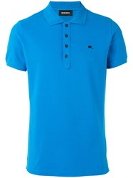 Diesel Logo Pin Polo Shirt Blue