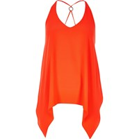 River Island Womens Bright Red Hanky Hem Vest Top
