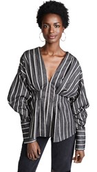 C Meo Collective Moments Apart Top Navy Stripe