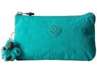 Kipling Creativity Large Pouch Cool Turquoise Clutch Handbags Blue