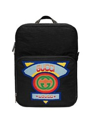 Gucci Medium Backpack With '80S Patch Black