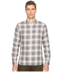Todd Snyder Linen Check Shirt Black Grey