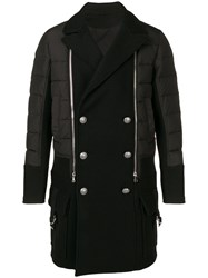 Balmain Double Breasted Coat Black