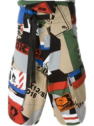 Ktz Collage Print Shorts Multicolour