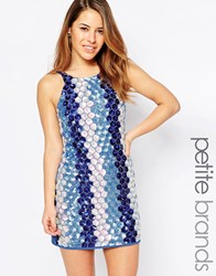 True Decadence Petite Blue Sequin Cami Dress Blue