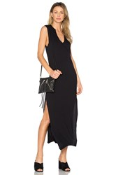 Candc California Dawna Slit Maxi Dress Black