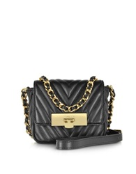 Michael Kors Susannah Lock Black Quilted Leather Small Messenger