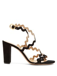 Chloe Melrose Block Heel Suede Sandals Black