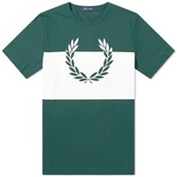Fred Perry Authentic Printed Laurel Tee Green
