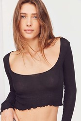 Out From Under Millie Ribbed Long Sleeve Top Black