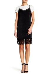 West Kei Layered Lace Slip Dress And Tee Black